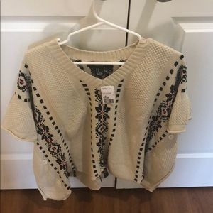 Forever21 poncho sweater nwt